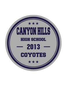 Canyon Hills Junior High School Coyotes Sticker