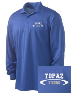 Topaz Elementary School Tigers Embroidered Men's Long Sleeve Micropique Sport-Wick Sport Shirt