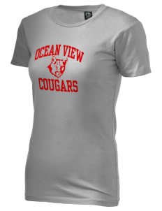 Ocean View Elementary School Cougars Alternative Women's Basic Crew T-Shirt