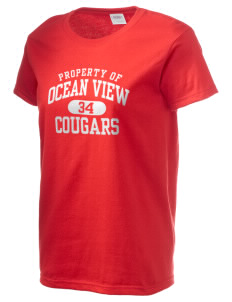 Ocean View Elementary School Cougars Women's 6.1 oz Ultra Cotton T-Shirt