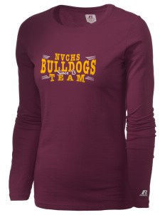 North Valley Continuation High School Bulldogs  Russell Women's Long Sleeve Campus T-Shirt