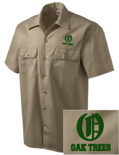 Anderson Partnership Learning Center Oak Trees Embroidered Dickies Men's Short-Sleeve Workshirt