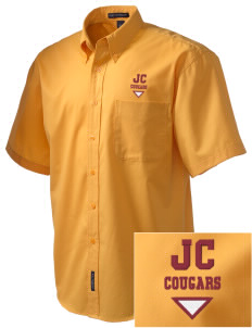 Jean Callison Elementary School Cougars Embroidered Men's Easy Care Shirt
