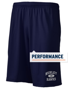 "Hurley Elementary School Hawks Holloway Men's Performance Shorts, 9"" Inseam"
