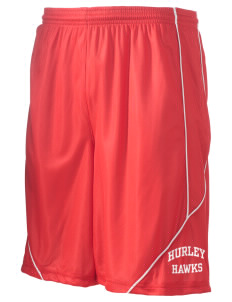 "Hurley Elementary School Hawks Men's Pocicharge Mesh Reversible Short, 9"" Inseam"