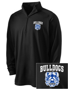 Albany Park Multicultural Academy Bulldogs Embroidered Men's Stretched Half Zip Pullover