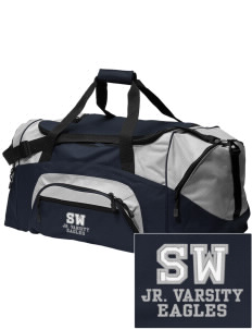 Southeast Webster Middle School Eagles Embroidered Colorblock Duffel Bag