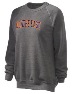 Olathe East High School Hawks Unisex Alternative Eco-Fleece Raglan Sweatshirt