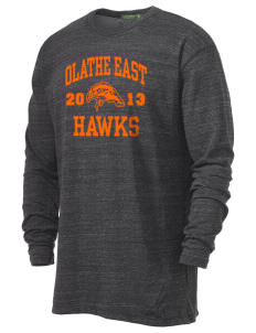 Olathe East High School Hawks Alternative Men's 4.4 oz. Long-Sleeve T-Shirt