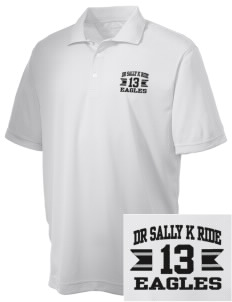 Dr Sally K Ride Elementary School Eagles Embroidered Men's Double Mesh Polo