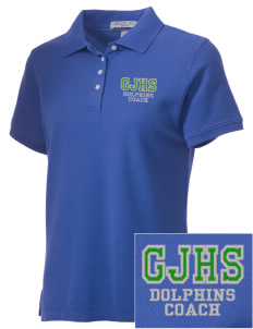 Greenspun Junior High School Dolphins Embroidered Women's Performance Plus Pique Polo