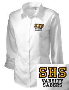 Souhegan High School Sabers Embroidered Women's 3/4 Sleeve Non-Iron