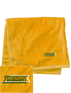 Emmaus High School Hornets Embroidered Beach Towel