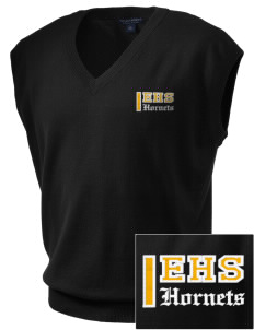 Emmaus High School Hornets Embroidered Men's Fine-Gauge V-Neck Sweater Vest