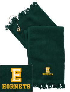 Emmaus High School Hornets  Embroidered Grommeted Finger Tip Towel