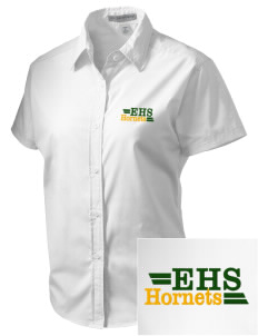 Emmaus High School Hornets Embroidered Women's Short Sleeve Easy Care, Soil Resistant Shirt
