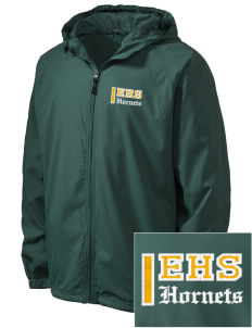 Emmaus High School Hornets Embroidered Men's Hooded Raglan Jacket