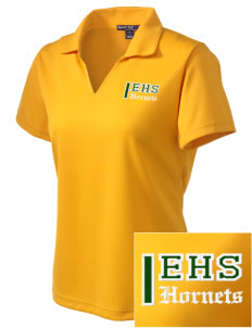Emmaus High School Hornets Embroidered Women's Dri Mesh Polo