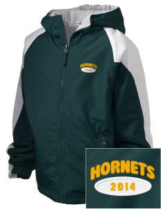 Emmaus High School Hornets Embroidered Holloway Kids Homefield Zip Front Jacket