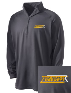 Emmaus High School Hornets Embroidered Men's Stretched Half Zip Pullover
