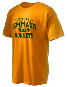 Emmaus High School Hornets Hanes Men's 6 oz Tagless T-shirt