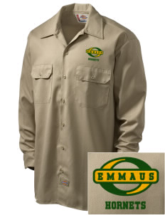 Emmaus High School Hornets Embroidered Dickies Men's Long-Sleeve Workshirt