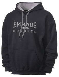 Emmaus High School Hornets Men's 7.75 oz Contrast Hooded Sweatshirt