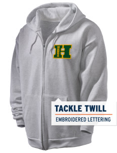 Emmaus High School Hornets Men's Full Zip Hooded Sweatshirt with Tackle Twill