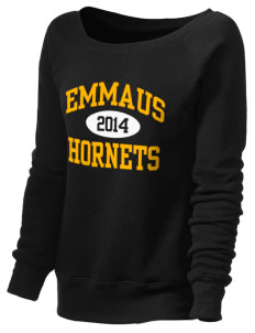 Emmaus High School Hornets Women's 8.2 oz. Triblend Slouchy Wide Neck Fleece