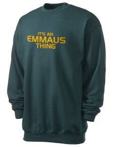 Emmaus High School Hornets Men's 7.8 oz Lightweight Basic Crewneck Sweatshirt