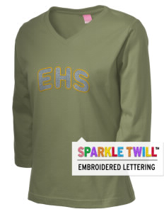 Emmaus High School Hornets Women's 3/4-Sleeve T-Shirt with Sparkle Twill™