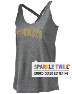 Emmaus High School Hornets Women's Tri-blend T-Back Tank with Sparkle Twill™
