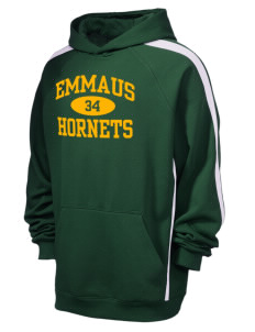 Emmaus High School Hornets Men's Tall Sleeve Stripe Pullover Hooded Sweatshirt
