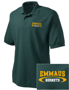 Emmaus High School Hornets Embroidered Tall Men's Silk Touch Polo