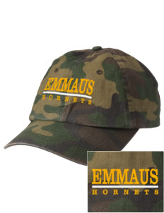 Emmaus High School Hornets Embroidered Camouflage Cotton Cap