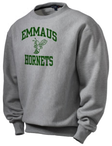 Emmaus High School Hornets Men's Heavyweight Crewneck Sweatshirt
