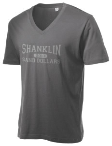 Shanklin Elementary School Sand Dollars Alternative Men's 3.7 oz Basic V-Neck T-Shirt