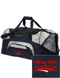 Cherry Hill Elementary School Mustangs Embroidered Colorblock Duffel Bag