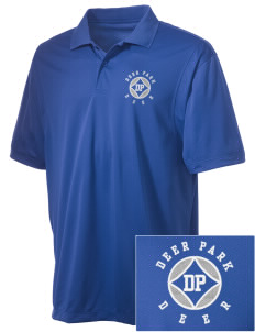 Deer Park Elementary School Deer Embroidered Men's Micro Pique Polo