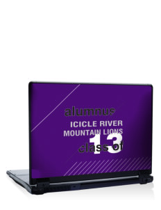 "Icicle River Middle School Mountain Lions 17"" Laptop Skin"