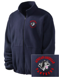 African American Academy Panthers Embroidered Men's Fleece Jacket