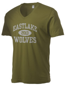 Eastlake High School Wolves Alternative Men's 3.7 oz Basic V-Neck T-Shirt