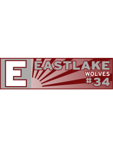 "Eastlake High School Wolves Bumper Sticker 11"" x 3"""