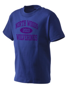 North Woods Elementary School Wolverines Kid's T-Shirt