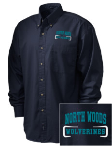 North Woods Elementary School Wolverines Embroidered Tall Men's Twill Shirt
