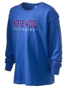 North Woods Elementary School Wolverines Kid's 6.1 oz Long Sleeve Ultra Cotton T-Shirt
