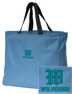 North Woods Elementary School Wolverines Embroidered Essential Tote
