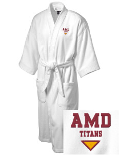 Agbu Manoogian Demirdjian School Titans Embroidered Terry Velour Robe