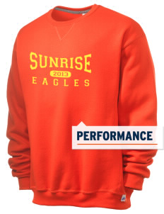 Sunrise School Eagles  Russell Men's Dri-Power Crewneck Sweatshirt