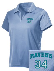 Auburn Riverside High School Ravens Embroidered Women's Double Mesh Polo